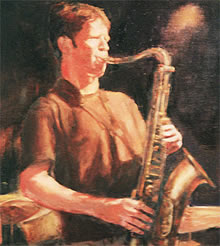 Jazz Art Oil Painting Saxaphone