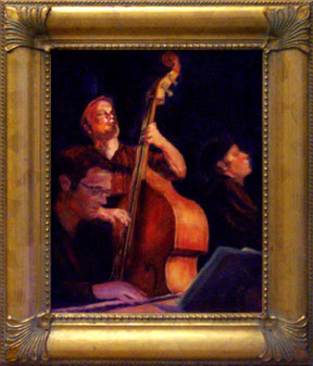 Jazz painting  of Bass Player