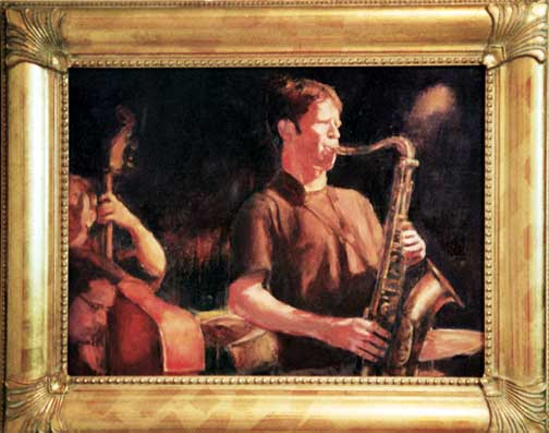 Wailin' Sax Jazz painting