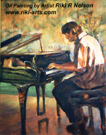 Painting of a Jazz Piano Player