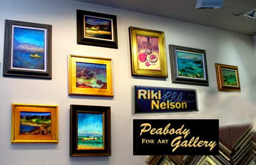 Photo of Exhbit of Riki R Nelsons work at Peabody Gallery Menlo Park