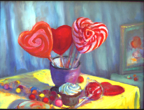 Valentines Day Oil Paintings by Artist Riki R Nelson at Peabody ...