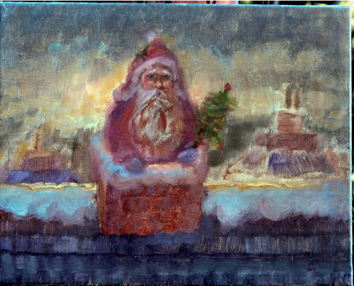 Christmas Oil Paintings