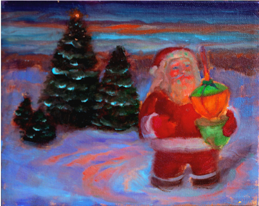paintings of Santa Claus