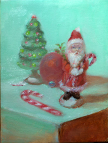 Painting of Christmas Ornaments