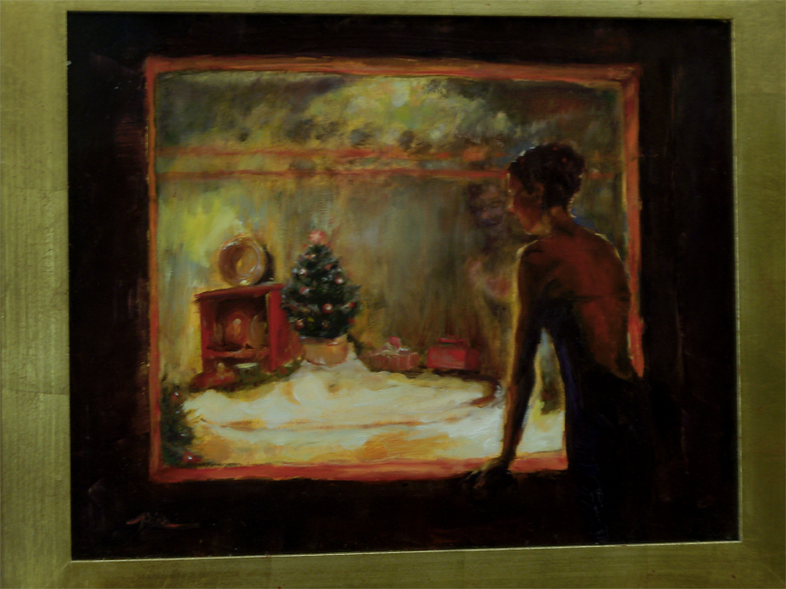 Classic Christmas Oil Painting