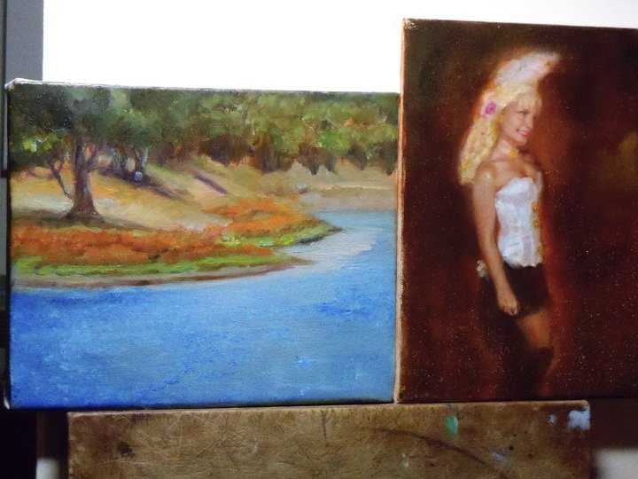Portrait oil painting of Dancing  Girl