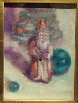 Oil Painting of Santa Claus, Christmas Paintings