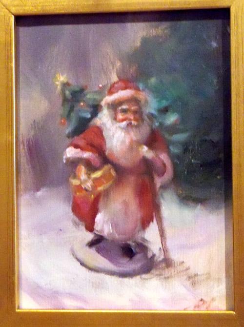 Christmas paintings paintings of santa claus original christmas art