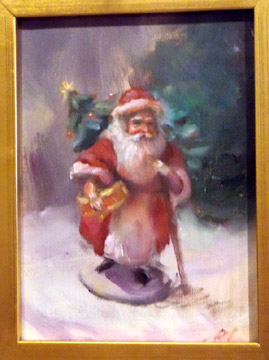 Oil Paintings of Santa Claus