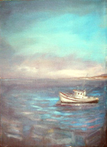 monteray seascape oil painitng