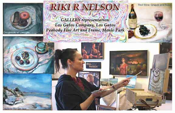 Photo of Artist Riki R Nelson during recent painting performance at Peabody Gallery