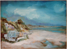 small seascape oil painitng