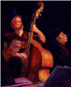 Jazz Bass Player painting