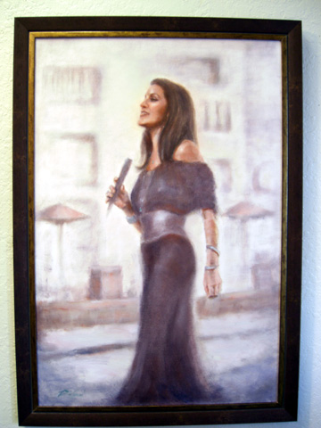 Oil Painting inspired by Jazz Diva Rita Coolidge