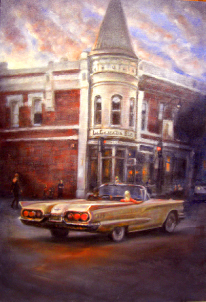 cityscape car painting