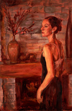 formal oil portrait painting