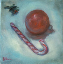 CHRISTMAS PAINTINGS OF ORNAMENTS