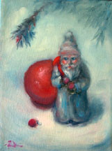 CHRISTMAS PAINTINGS santa