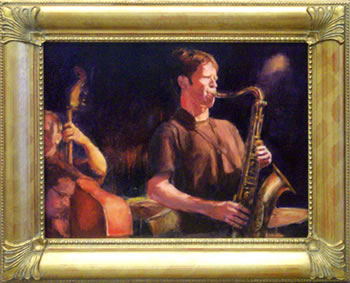 Wailin' Sax Jazz painting