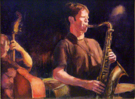 Jazz Painting of Musicians